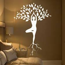 online get cheap abstract art wall mural aliexpress com alibaba tree wall decals art gymnast decal yoga meditation vinyl stickers gym home decor interior design murals