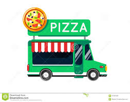 pizza food truck city car food truck auto cafe mobile kitchen