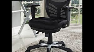 Black Mesh Office Chair Modway Articulate Black Mesh Office Chair Youtube