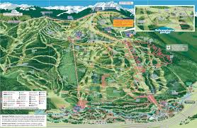 Colorado Mountain Map by Vail Mountain Bike Park