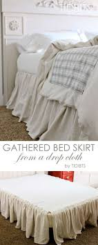 Crib Bed Skirt Measurements Diy Gathered Bed Skirt From A Drop Cloth Tidbits