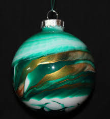ornament green painted glass ornamentgreen