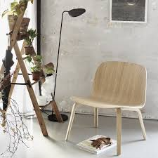 the muuto leaf floor lamp in the interior design shop muuto visu lounge chair leaf floor lamp