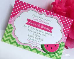 birthday invitation templates watermelon birthday invitations