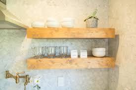 cabinets u0026 storages wooden varnished open kitchen shelves bowls