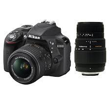 nikon d3300 dslr camera bundle 18 55mm 70 300mm lenses 32gb sd