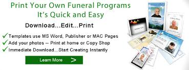 where to print funeral programs funeral programs printing print funeral program
