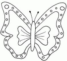 drawing butterfly for kids easy butterfly color pages coloring