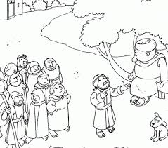 Zacchaeus And Jesus Coloring Page Jesus And Zacchaeus Coloring Zacchaeus Coloring Page
