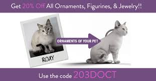 custom cat ornaments figurines and earrings of your cat