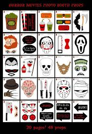 halloween photo booth props printable pdf printable horror movies photo booth props halloween photo booth sign