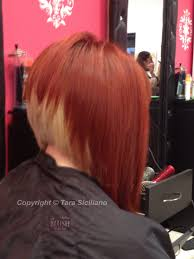 dramatic a line bob with two tone color hair ideas pinterest