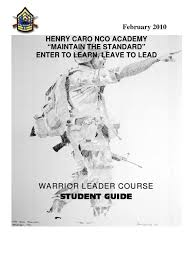 wlc study guide non commissioned officer officer armed forces