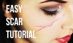 easy realistic scar sfx makeup tutorial youtube