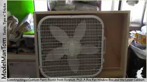 paint booth pt2 a box fan window box and lower cabinet youtube