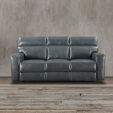 Grey Leather Reclining Sofa by This Sturdy And Durable Gray Reclining Sofa Is 100 Made Of Top