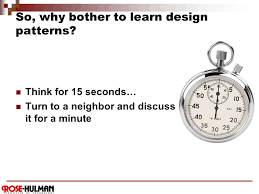 of four design patterns csse 374 introduction to of four design patterns ppt