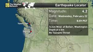 Washington State Earthquake Map by News Small Earthquake Shakes Northwest Washington State The