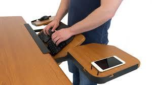Walking Laptop Desk by Elevon Ergonomic Keyboard Tray For Standing Desks And Treadmill Desks