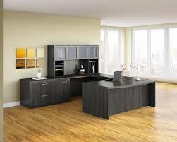 U Shaped Executive Desk Aberdeen Gray Steel Finished U Shaped Executive Furniture Set