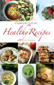 complete list of healthier for you recipes practical stewardship