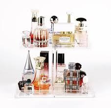 Makeup Vanity Tray 2 Tier Perfume Tray Acrylic Makeup Organizer Perfume