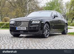 roll royce ghost all black budapest hungary april 19 2017 rollsroyce stock photo 625954550