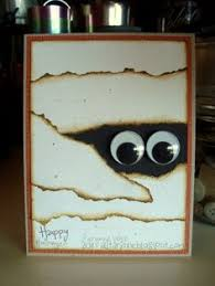 halloween card ripped paper and googly eyes what a cute and easy