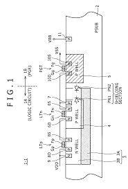 patent us8008733 semiconductor device having a power cutoff