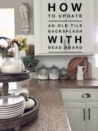 update your kitchen back splash tile with bead board hip