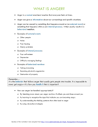 Anger Management Worksheets For Anger Management Therapy Handouts And Worksheets