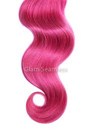 pink hair extensions hot pink in hair extensions glam seamless