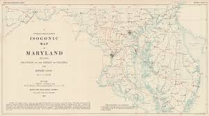 Map Of Columbia A Preliminary Isognic Map Of Maryland Including Delaware And The
