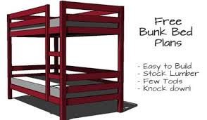 Bedroom Furniture Plans Archives Woodwork City Free Woodworking - Simple bunk bed plans
