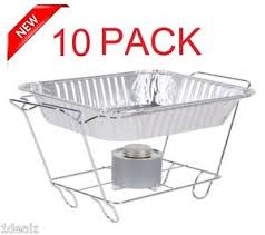 10 pack buffet chafer food warmer wire frame stand rack half size