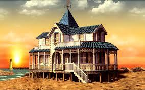 beach beach house seaside summer sand wallpaper hd for hd 16 9