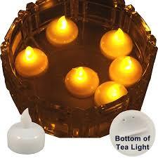 floating tea lights walmart 6 pack of led floating candle tea lights amber walmart com