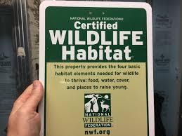 why are certified wildlife habitats important platinum ponds