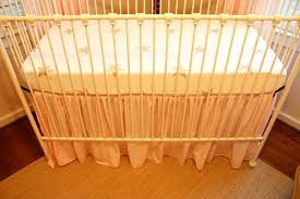 Crib Bed Skirt Measurements Diy Ruffled Crib Skirt From Fitted Sheet Checking In With Chelsea