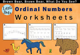brown bear brown bear what do you see free ordinal numbers