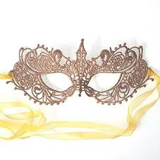 masqurade mask gorgeous gold copper goddess lace masquerade mask by
