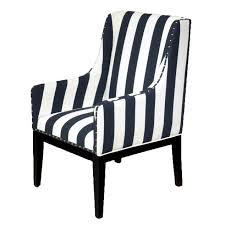 Home Furniture Chairs Black And White Striped Sargon Chair At Home At Home