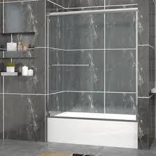 Bath Shower Doors Glass Frameless Cpd Home Usa New Semi Frameless Bypass 2 Sliding Tub Bathtub
