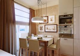 kitchen kitchen with breakfast nook idea and brick wall exposed