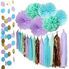 mermaid party supplies mermaid party decorations the sea theme purple
