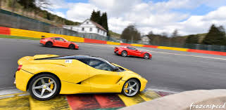Ferrari F12 On Track - the moment when a laferrari overtakes an f12 tdf and a 911 gt3 rs