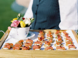 traditional canapes a traditional country wedding at jervaulx with