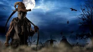 halloween wallpaper android death scythe in the dark night of halloween