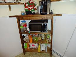 custom rustic kitchen corner shelf and microwave stand by cooper u0027s