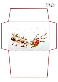 letter to santa claus envelope template santa sleigh 4